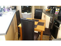 Extendable Dining Table and x4 Chairs for sale