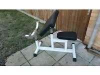 Preacher curl weight bench