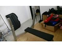 High Quality Bench Press + Olympic Bar + Plates
