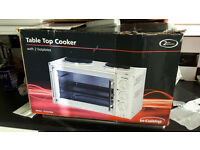 table top oven, hob, grill
