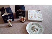 Beatrix Potter china items - Peter Rabbit etc
