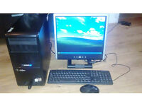 Viglen PC Tower with monitor, keyboard and mouse
