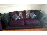 Large sofa medium sofa and arm chair