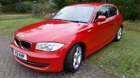 BMW 1 series 123D SE 2009 red manual 2.0l diesel