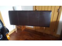 Leather look Brown Kingsize Headboard