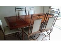 Dining Table, chairs and matching wine rack