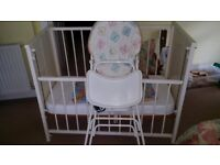 Cot and High Chair