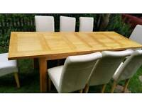 Heavy Oak Table and Chairs