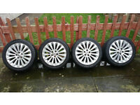 """Genuine Ford Mondeo MK4 (2007-2014) 4 x Alloy wheels 17"""" and good tires 235/45R17"""