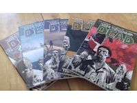 the walking dead comic books volume 1 to 5 never been used