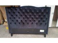Collection Luxford Kingsize Bed Frame - Black Velvet (READ DESCRIPTION)