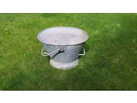 Galvanised Bucket - Coal bucket - very good condition - not a repro