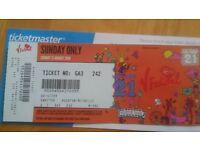 v festival one day ticket sunday weston park