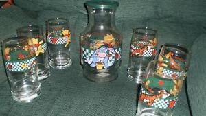 Winnie the Pooh jug + glasses London Ontario image 1