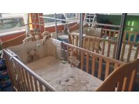 Mamas and papas eloise cotbed and bumper set