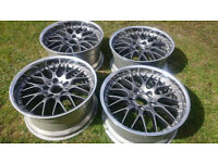 BBS RS 745 BMW E39 18''8-9J RECENTLY REFURBED ! FREE UK POSTAGE