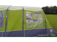 FOR SALE VANGO INSPIRE AIR 600 WITH AIR AWNING, WOODEN TRAILER AND VARIOUS ITEMS
