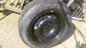 New Wheel and tyre 195 60 15 , suit vauxhall astra corsa etc etc