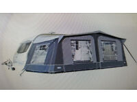 Full Caravan Awning Size 900 with Matching Tall Bedroom Annex - Looks New
