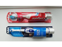Oral-B Pro-Expert Advance 400 & Colgate 360 Max White One Battery Toothbrushes