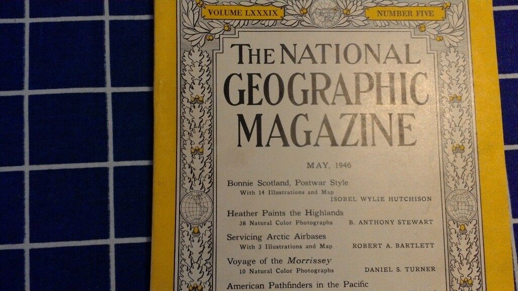National Geographic Magazines Jan 1946 - March 1957 inclusive, mostly still in original envelopes