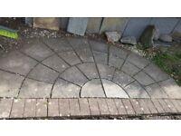 Half circle patio stones
