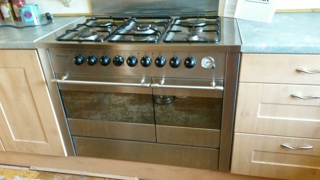 Brandt Double Oven Range Cooker Model Kwe 19x1u