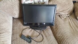 "15"" TV Small flat screen with remote"