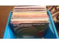 """12"""" vinyl record collection of Hard House/ House music 71 records."""
