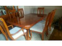 Table & Chairs, Display Cabinet and Sideboard, Coffee Table - matching set