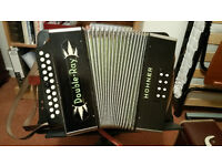 Hohner Double Ray B/C Melodeon with carrying case