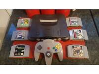 Nintendo 64 all leads and 6 games