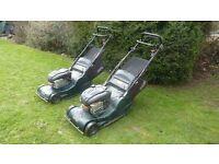 Hayter harrier 48 petrol roller mowers x 2 cost £800 each