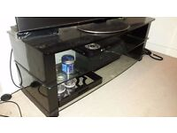 "TV 50"" Stand Black Glass Used RRP £400"