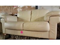 large 2 seater leather sofa for sale