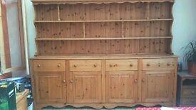 LARGE solid pine dresser / cabinet - 8 ft x 6 ft
