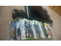 XBOX 360 500GB WITH WIRELESS CONTROLLER AND GAMES