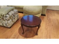 Vintage Retro Small Coffee Table Side Table Bedside Table Queen Anne Style Legs