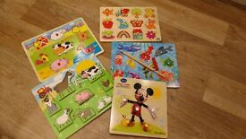 Baby toys - Bundle of wooden baby puzzles. Ideal Christmas present