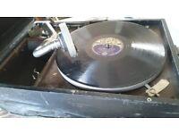 Old Fashion Portable Gramophone