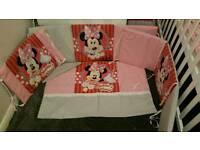 Minnie mouse cot bedding