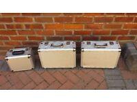 3 X Aluminium CD / DVD Storage Boxes - Great value - Key Locks - Postage options avaialable