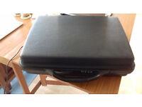 Black Samsonite Hard Rigid Plastic Briefcase in good condition