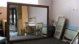 Large antique pine Mirror In excellent condition.