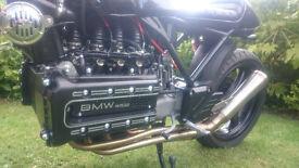 bmw k100 k1100 cafe racer tracker custom bobber