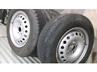 Vw t4 steel wheels x4