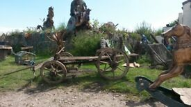 antique hay cart french i think belong to the band prodigy mike chapion hertfordshier