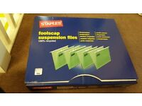 50 x Brand new Staples Foolscap Suspension Files