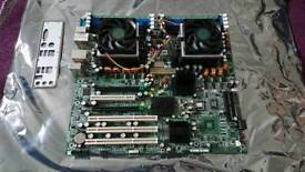 Tyan Thunder K8WE eATX Server Motherboard AMD Opteron 270 2GB DDR Untested