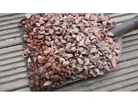 Teracotta/Red chippings approx 15mm approx half a tonne. Free must collect. Paths / garden project.